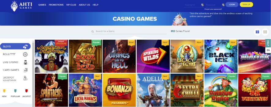 AHTI Casino Games