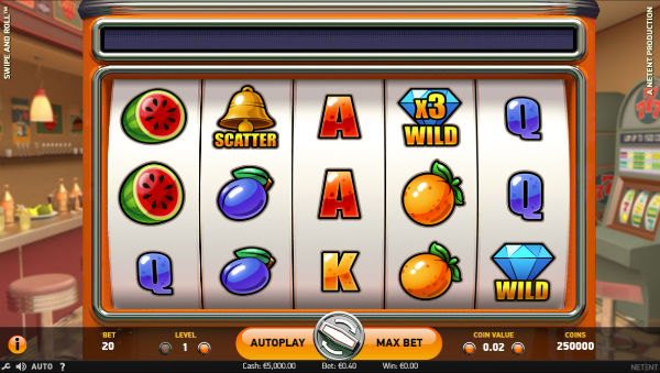 Swipe & Roll Slot Game